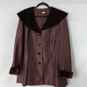 Ashley Stewart Holiday Burgundy Top with Velour